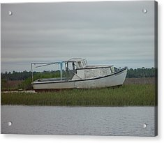 Island Boat Two Acrylic Print by Debbie May