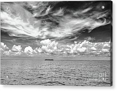 Island, Clouds, Sky, Water Acrylic Print