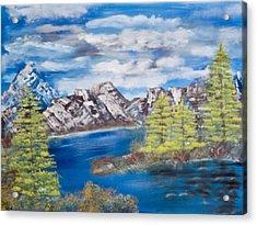 Island Cove Acrylic Print by Mikki Alhart