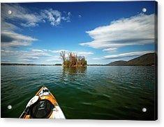 Acrylic Print featuring the photograph Island Destination by Alan Raasch
