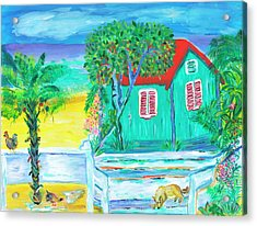 Island Dog's Porch Acrylic Print