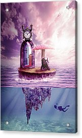 Acrylic Print featuring the digital art Island Dreaming by Nathan Wright
