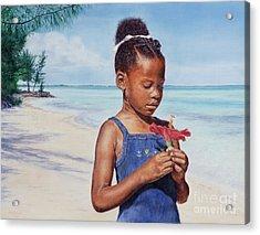 Island Flowers Acrylic Print