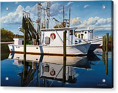 Acrylic Print featuring the painting Island Girl by Rick McKinney