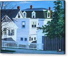 Island Heights Back Yards Acrylic Print by Robert Henne