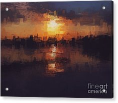 Island In The City Acrylic Print