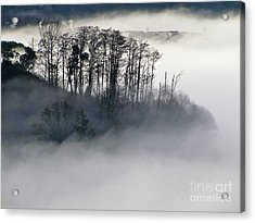 Island In The Morning Mist Acrylic Print
