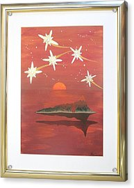Acrylic Print featuring the painting Island In The Sky With Diamonds by Ron Davidson