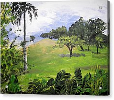 Acrylic Print featuring the painting Island Mood by Judy Via-Wolff