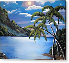 Island Night Glow Acrylic Print