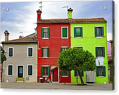 Island Of Burano Tranquility Acrylic Print