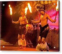 Island Of Fire Dancers Acrylic Print