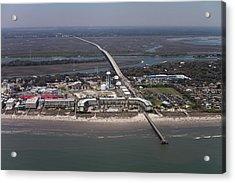Island Of Palms South Carolina Aerial Acrylic Print by Dustin K Ryan