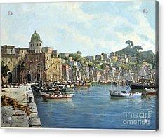 Island Of Procida - Italy- Harbor With Boats Acrylic Print