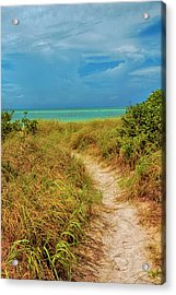 Island Path Acrylic Print by Swank Photography