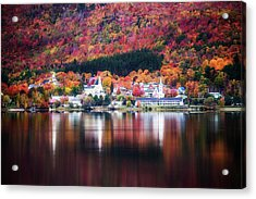 Island Pond Vermont Acrylic Print by Sherman Perry