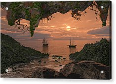Island Retreat Acrylic Print by Mary Almond