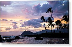 Acrylic Print featuring the photograph Island Silhouettes  by Heather Applegate