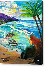 Island Sisters Acrylic Print