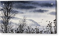 Acrylic Print featuring the painting Island Solitude by James Williamson