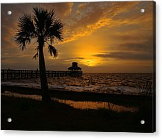 Island Sunrise Acrylic Print by Judy Vincent
