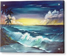 Island Sunset  Acrylic Print by Dina Holland