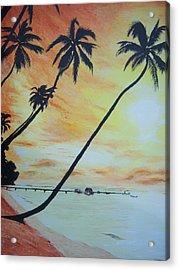 Island Sunset Acrylic Print by Ken Day