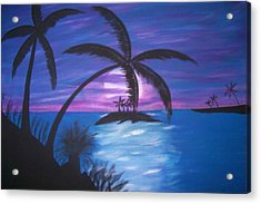 Island Sunset Acrylic Print by Paula Ferguson