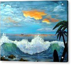 Island Time - Sunset Acrylic Print