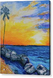 Acrylic Print featuring the painting Island Time by Stephen Anderson
