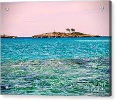 Island Tree Couple Acrylic Print