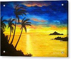 Island  Viewing Acrylic Print by Shasta Eone