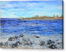 Islands And Surf Acrylic Print by Regina Valluzzi