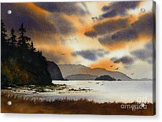 Acrylic Print featuring the painting Islands Autumn Sky by James Williamson