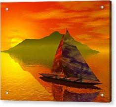 Islandside Acrylic Print by Adam Wells