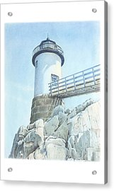 Isle Au Haut Light Acrylic Print by Todd Baxter