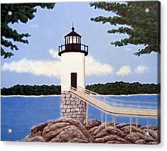Acrylic Print featuring the painting Isle Au Haut Lighthouse by Frederic Kohli