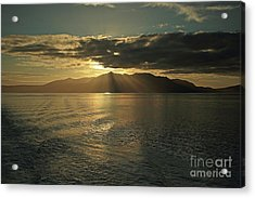 Isle Of Arran At Sunset Acrylic Print