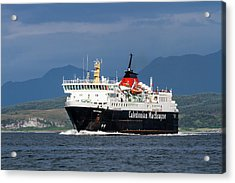 Isle Of Mull Ferry Crosses The Firth Of Lorne Acrylic Print