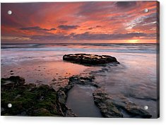 Isle Of The Setting Sun Acrylic Print by Mike  Dawson
