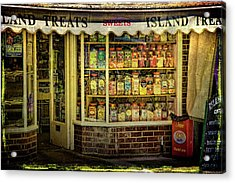 Isle Of Wight Candy Store Acrylic Print by Chris Lord