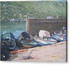 Isola Pescatori Fishing Boats Acrylic Print