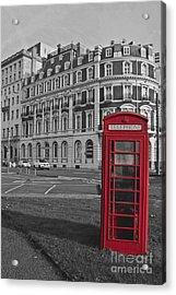 Isolated Phone Box Acrylic Print
