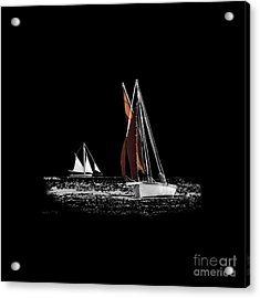 Isolated Yacht Carrick Roads On A Transparent Background Acrylic Print