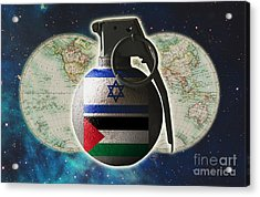 Israel And Palestine Conflict Acrylic Print by George Mattei