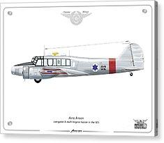 Israeli Aie Force Avro Anson #02 Acrylic Print