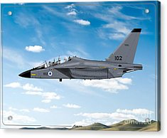 Israeli Air Force Airmacchi M-346i Master Lavi In Flight Acrylic Print