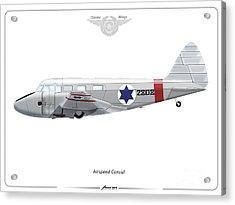 Israeli Air Force Airspeed Consul #2808 Acrylic Print