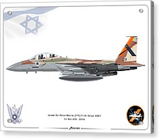 Israeli Air Force F 15i Ra'am - Ftc Acrylic Print