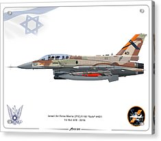 Israeli Air Force F-16i Sufa - Ftc Acrylic Print